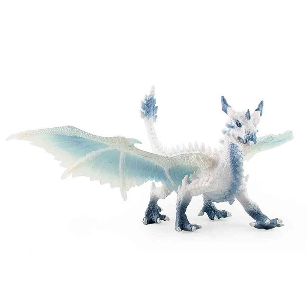 Ice Dragons Toy Figure, Realistic Dinosaur Model