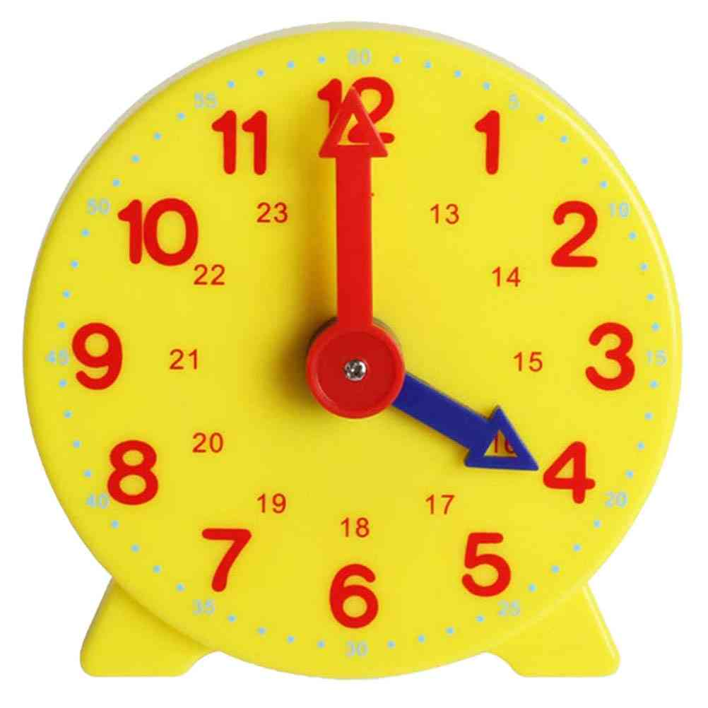 10cm Alarm Clock Adjustable 24 Hours Time Learning  Early Education Clock Model For Kids (as Show)