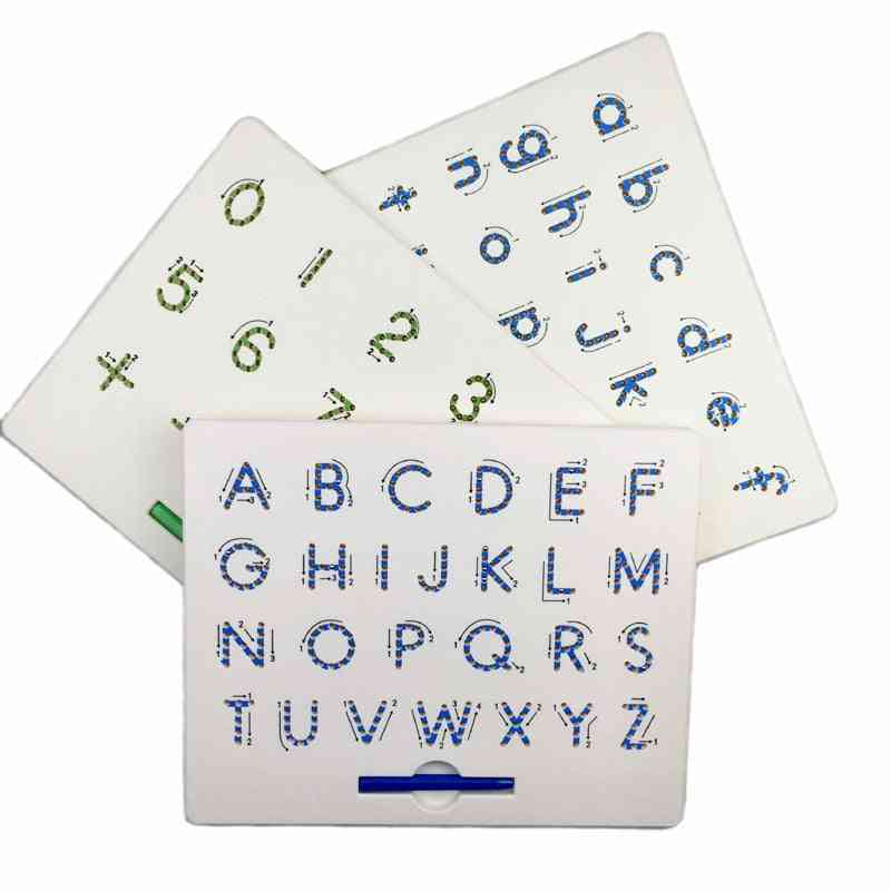 Alphabet Numbers Writing Memo Magnetic Tablet Drawing Board Educational Kid Toy