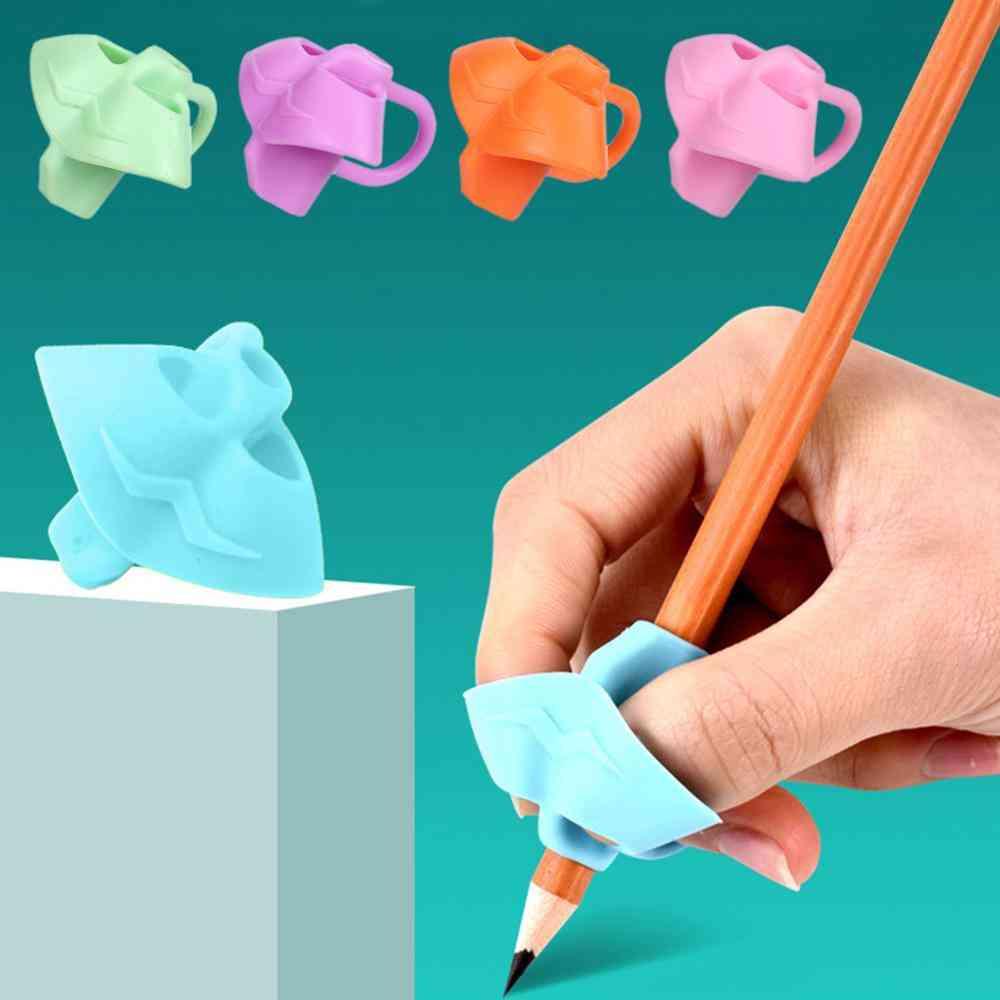 Pencil Corrective Grip Beginners Writing- Grip Tool Pen Help Fixture Correct Finger Position Kids