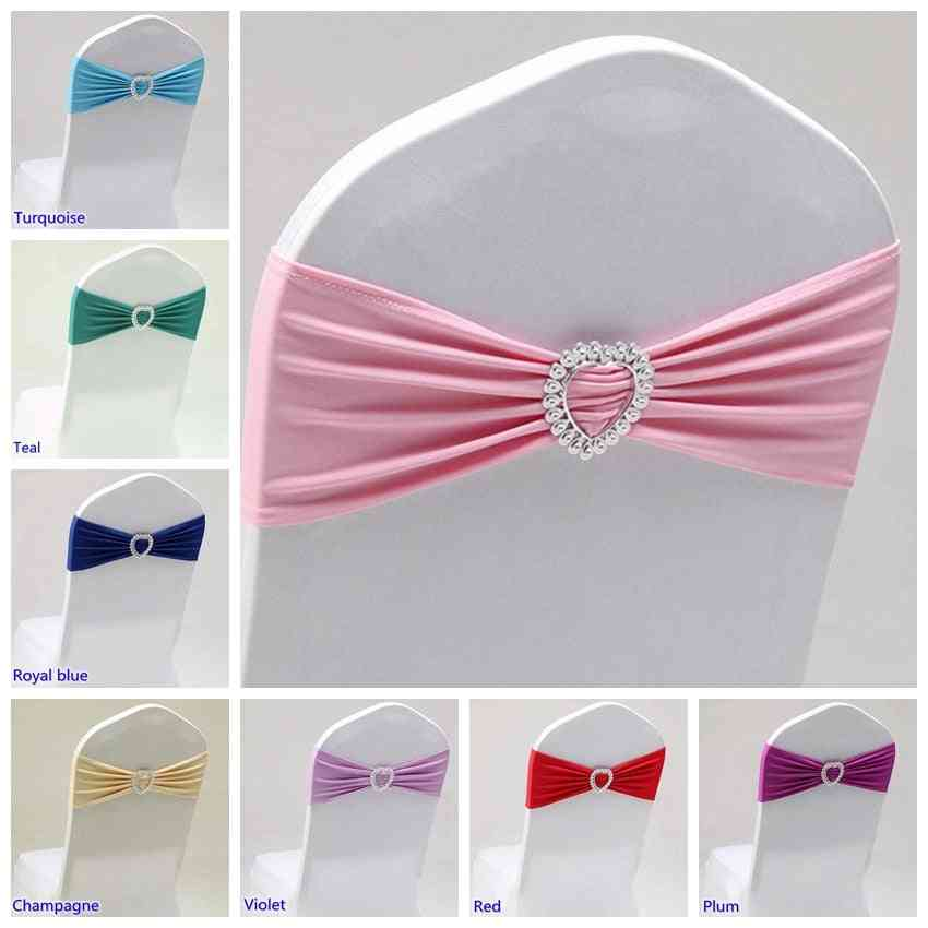 Chair Band Stretch For Chair Decoration - Party, Dinner, Banquet Chair Sash