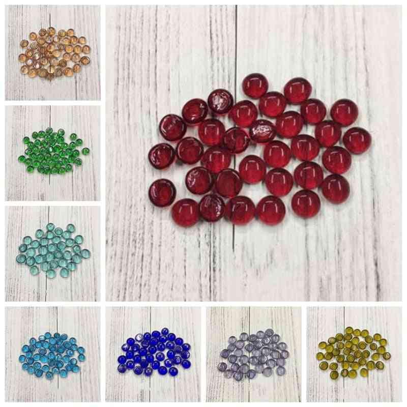 Diy Mosaic Creative Handwork Round Colorful Fish Tank Glass Flat Beads
