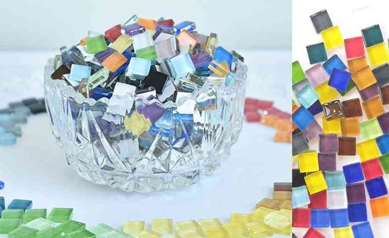 Colorful Glass, Square Mosaic Craft Materials For/kids
