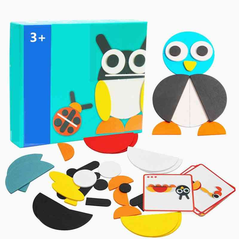 50pcs Animal Wooden Board Set Colorful For Learning Developing (without Original Box)