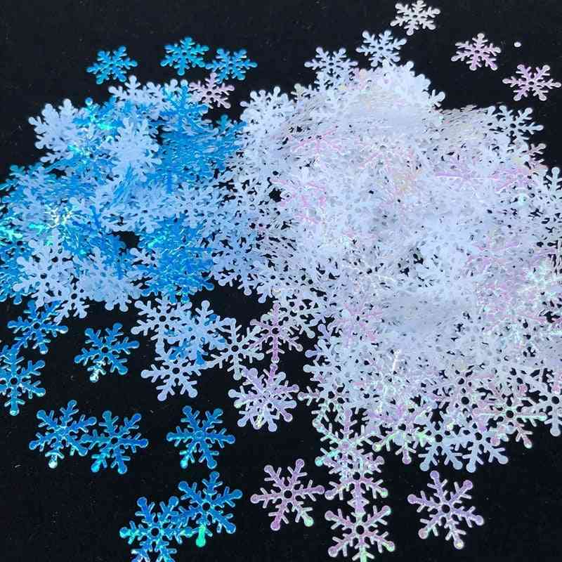 200/300pcs Artificial Snowflakes Decor Frozen Party Xmas Decorations For Home, Wedding, Birthday