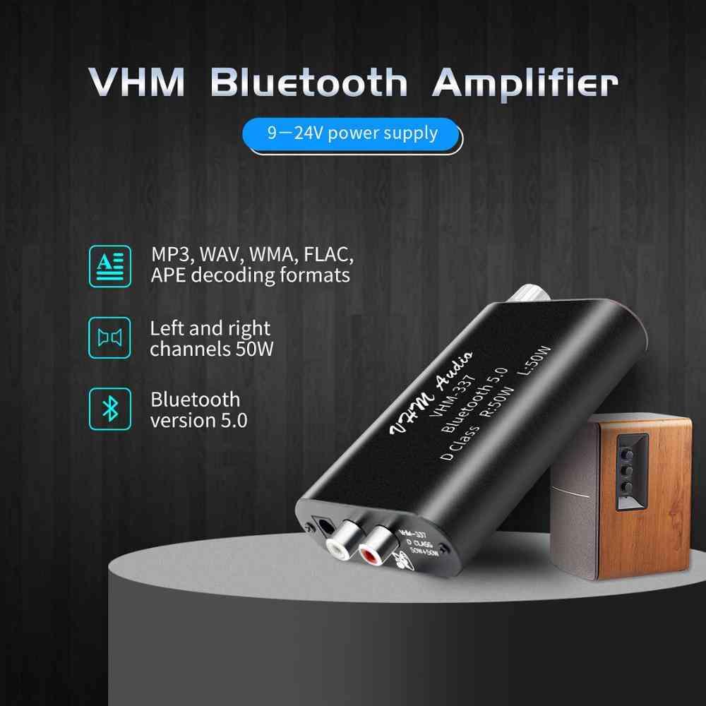 Bluetooth Receiver Amplifier Audio Board Digital U Disk Decoding With Remote 2x50w