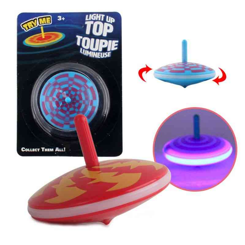 Edge Light Up Gyro Flashing Spinning Tops Toy- Stress Relief Gyroscope