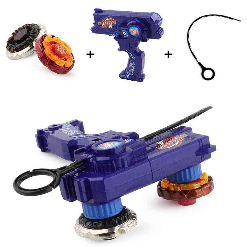 Bey Blade Metal Fusion For Spinning - Gyroscope Toy With Dual Launchers