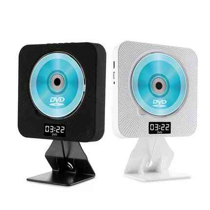 Wall Mounted, Bluetooth Cd Player With Digital Display And Remote Control