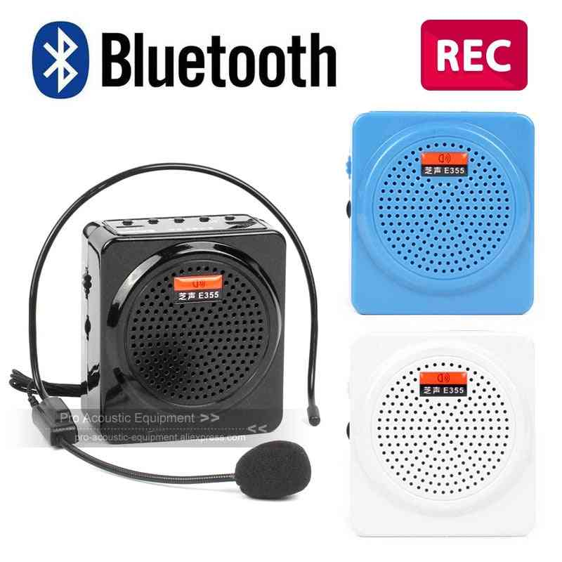 Bluetooth Voice Amplifier Megaphone - Amp Pa System Booster Speaker Earset Microphone Recorder