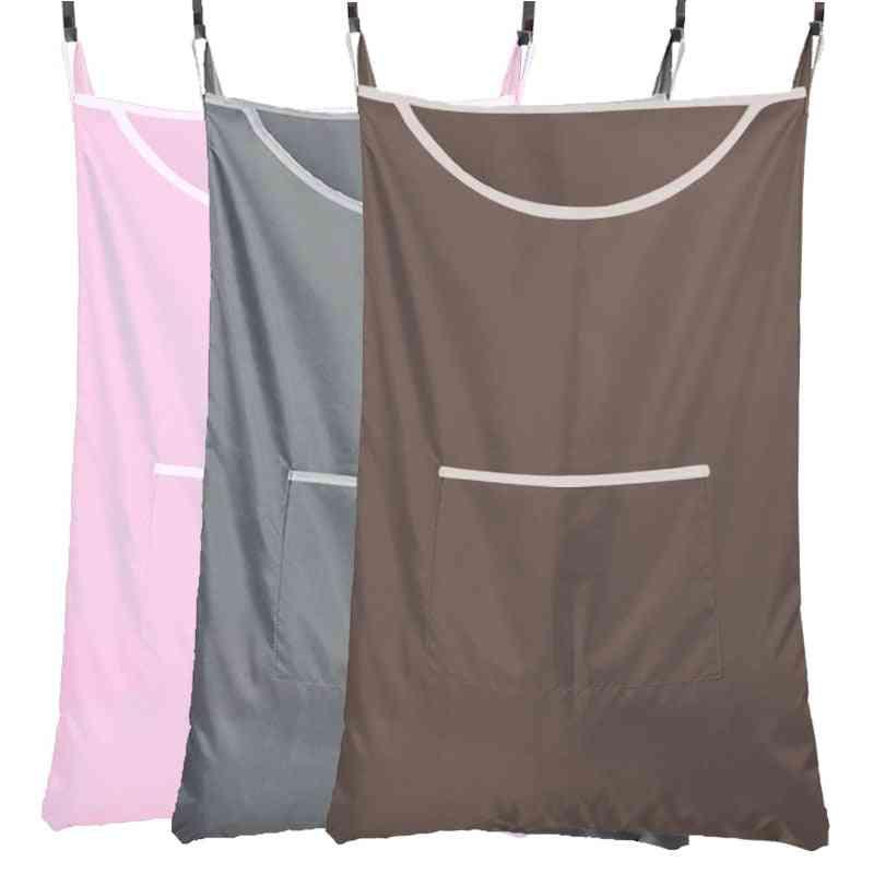 Laundry Basket, Storage With Hook, Dirty Clothing Storage Bag Organizer