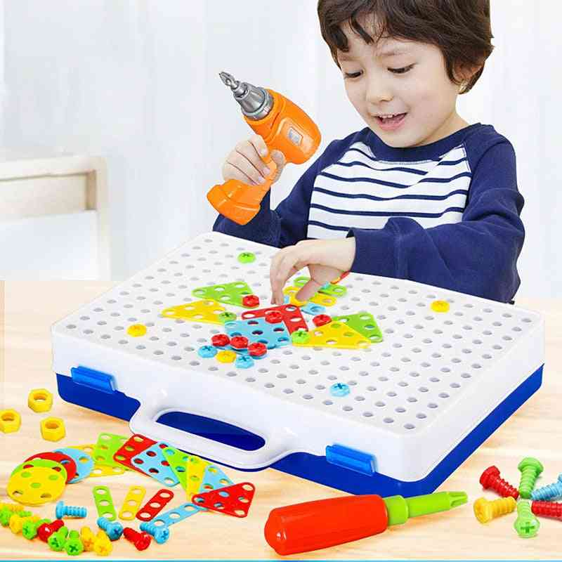 Electric Drill And Nut Tool Set Puzzle For