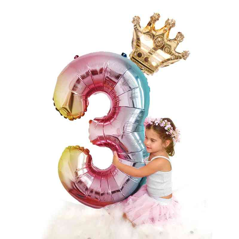 Number Foil Balloons For Party Decorations