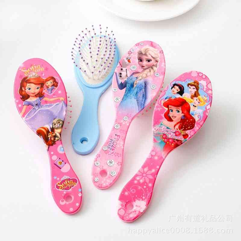 Disney Frozen, Princess, Minnie Mouse Printed Hair Brushes For