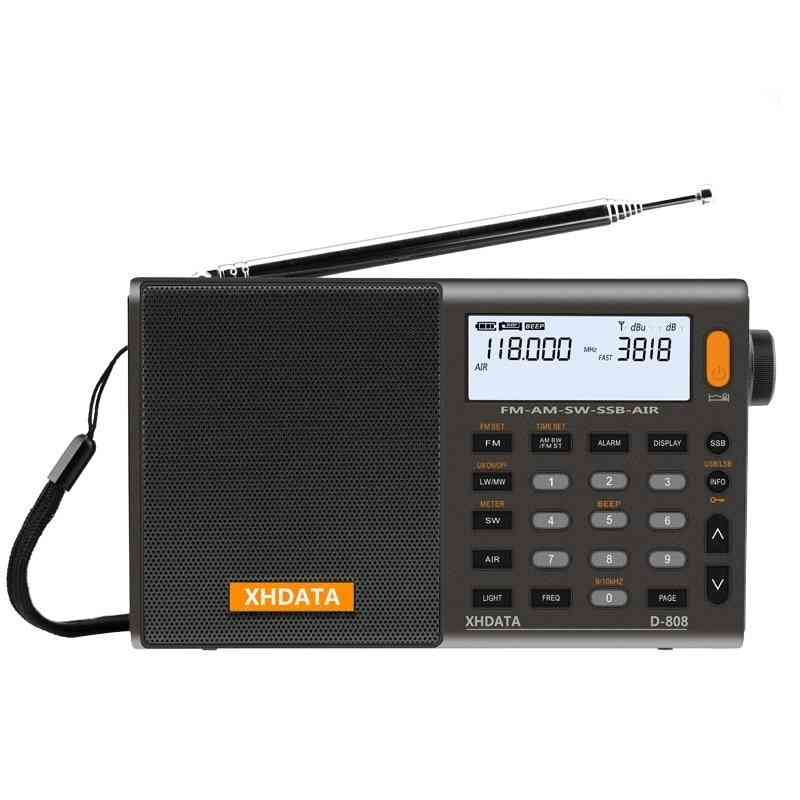 Portable Fm Radio-high Sensitivity, Deep Sound And Multi Band With Lcd Display
