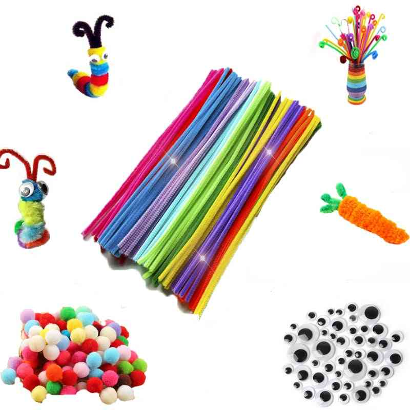30/50/100pcs Multicolour Chenille Stems Pipe Cleaners Handmade -art Crafts Material Kids Creativity H