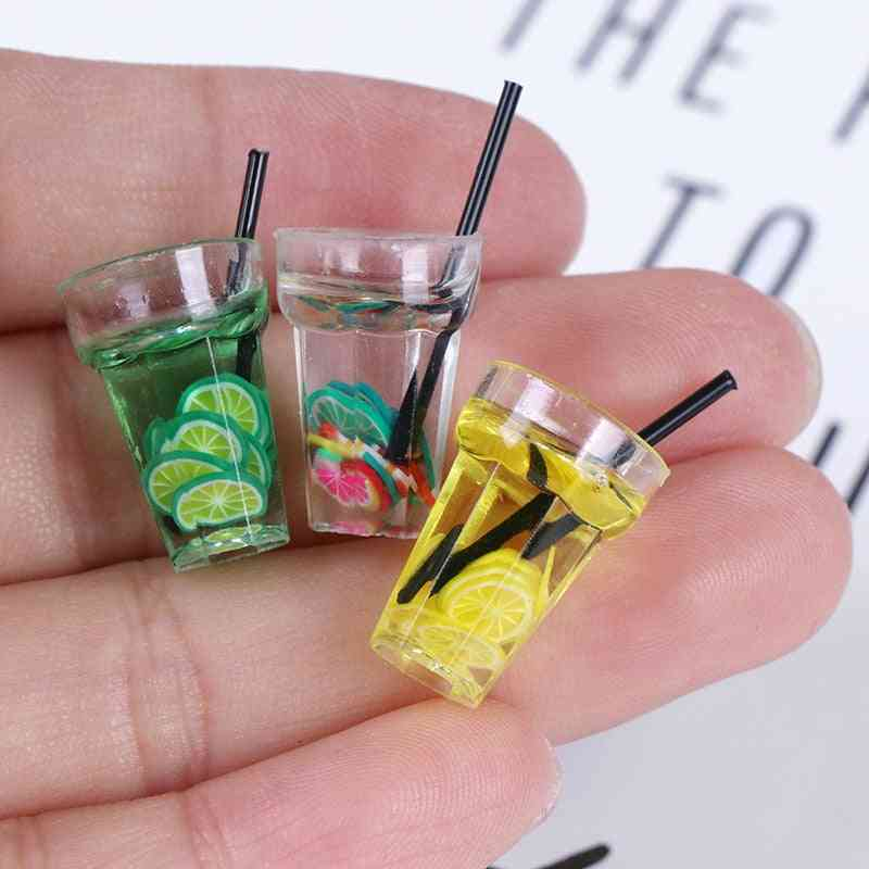 Miniature Resin Fruit Bottle For Dollhouse - Simulation Drinks