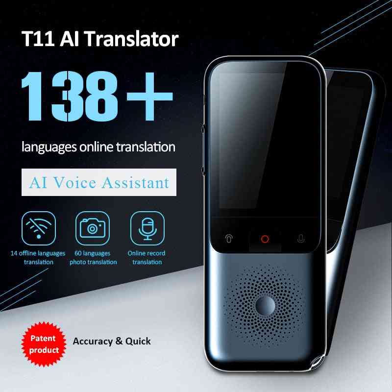 New T11 Portable Offline In Real Time, Smart Voice Translator In 138 Language