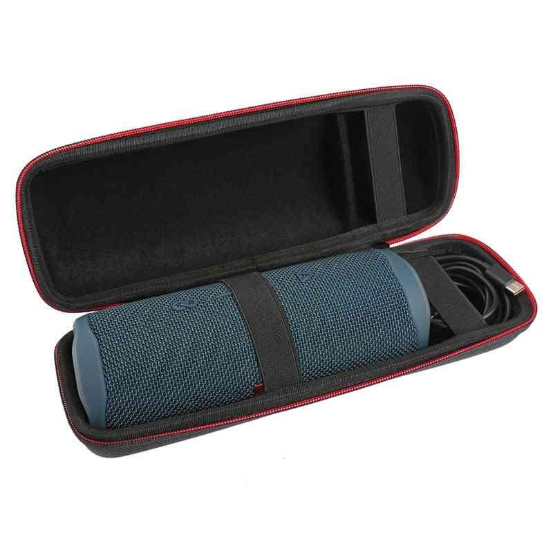 Portable Protective Carrying Hard Shell Storage Case With Carabiner For Jbl Flip 5 Flip5 Speaker