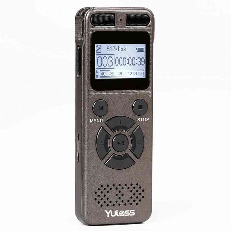 Professional Portable Digital Voice, Audio Recorder With Usb Support