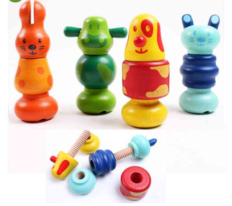 Colorful Matching Educational Toy - Bowling Nut Disassembly Combination For