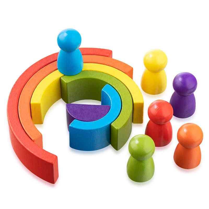 Creative Rainbow - Stacked Balance Blocks For Baby, Montessori Education For Children