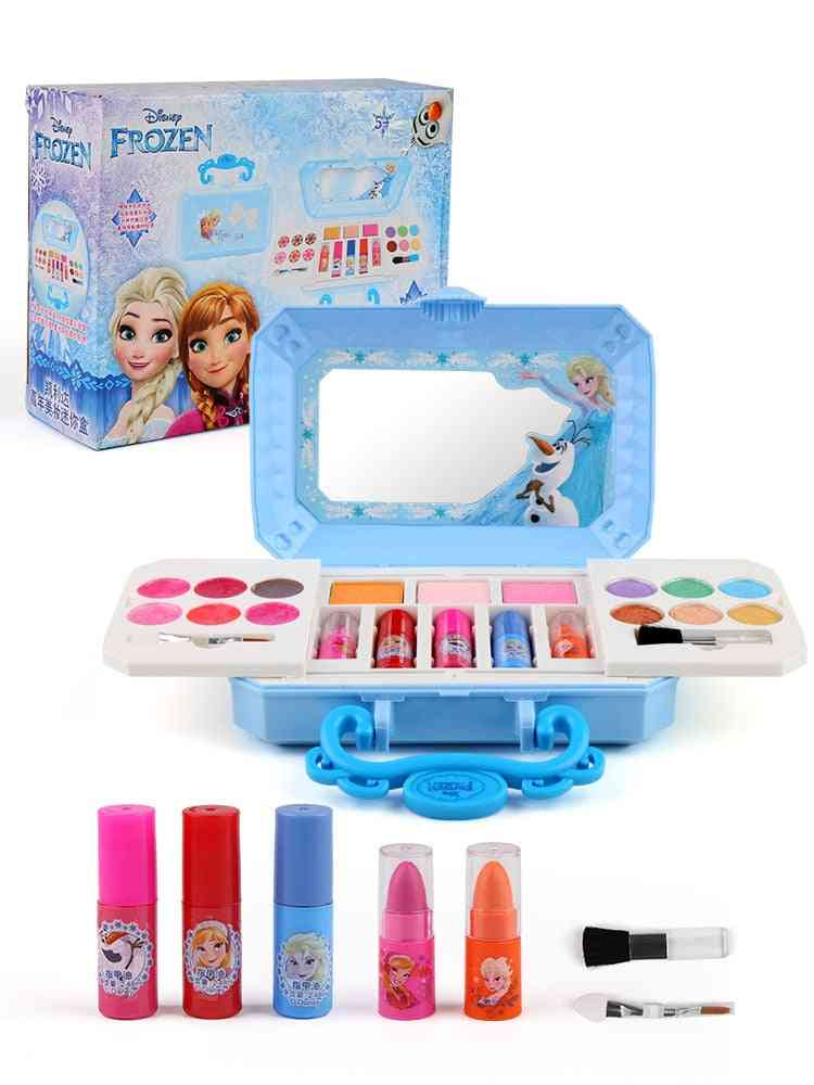 Disney Girls Frozen Elsa Anna Cosmetics Beauty Set, Snow White Princess Fashion  Toy Kids- Play House