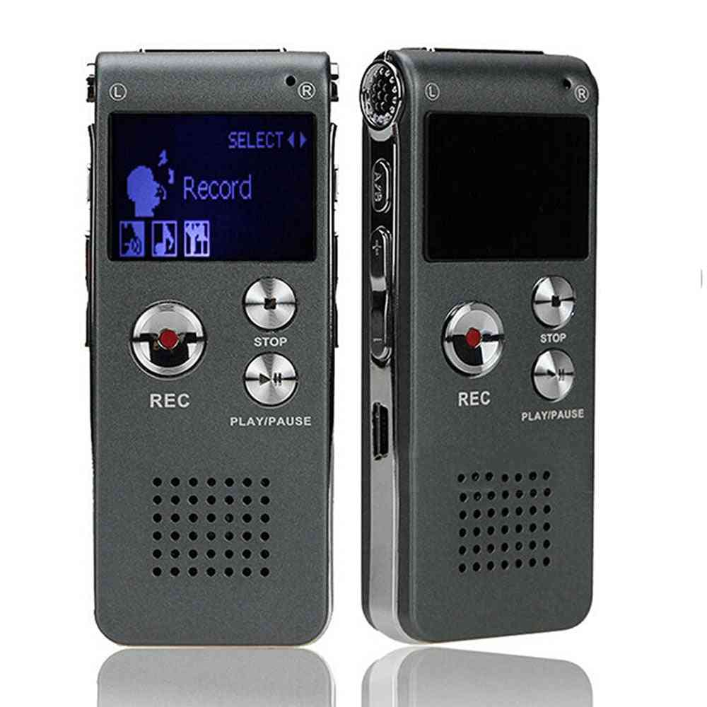 Portable Lcd Screen With 8gb Digital Voice Recorder Telephone, Audio Recorder, Mp3 Player Dictaphone