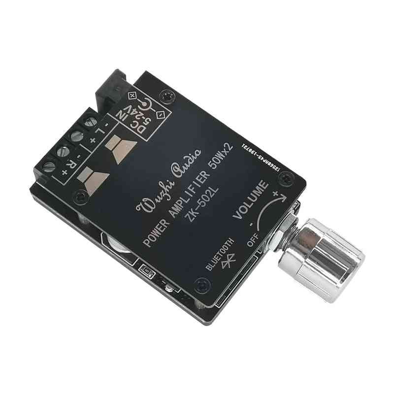 Bluetooth 5.0 Wireless Audio Digital Power Amplifier, Stereo Board 50wx2 Bluetooth Amp Amplificador Power Amp