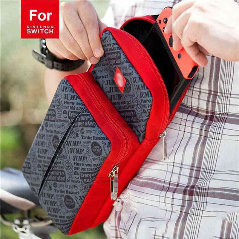 Crossbody Shoulder Storage Bag For Nintendo Switch, Console & Dock Game Accessories
