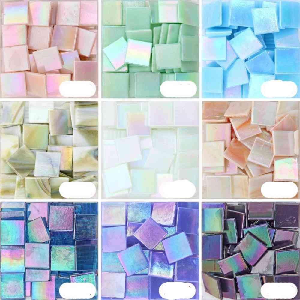 Fancy Quartz Mosaic Glass Iridescent Glasses Tile