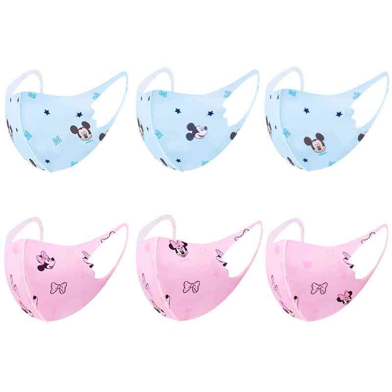 1-6pcs Disney Minnie Mouse Mickey Mouse Anti-dust Protective Washable Face Mask For Boy / Girl
