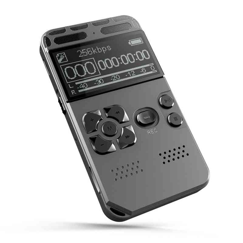 Professional Hd Digital Voice Recorder - One Button Record, Noise Reducation Dictaphone And Usb Rechargeable