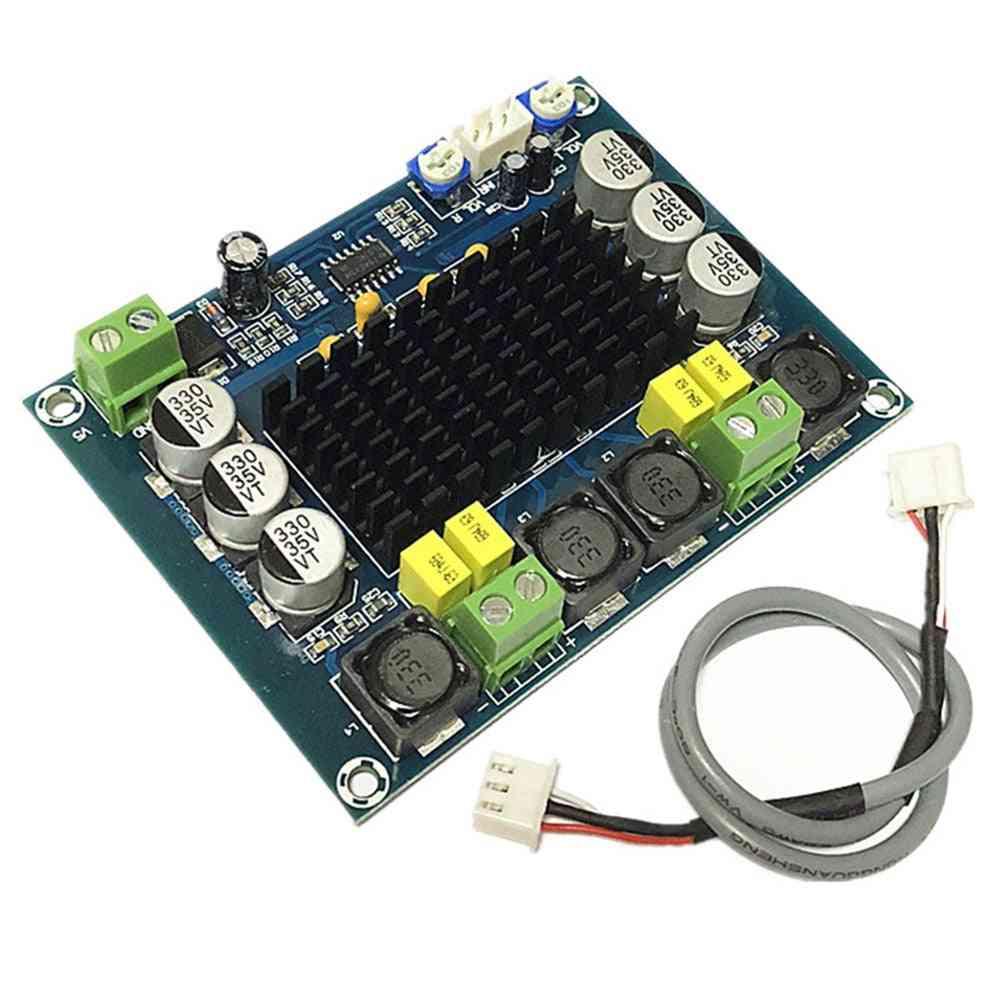 2 X 120w Sound Part Electronic Space Saving Amplifier Board, Lightweight Two Channel Module Audio Digital High Power