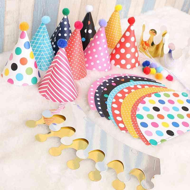 Birthday Party Hats - Cute Handmade Cap Crown Shower