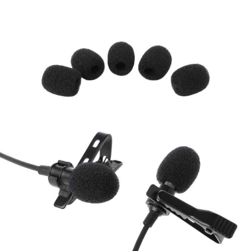 Round Ball Lavalier Microphone Foam -windscreen Sponge Windshields