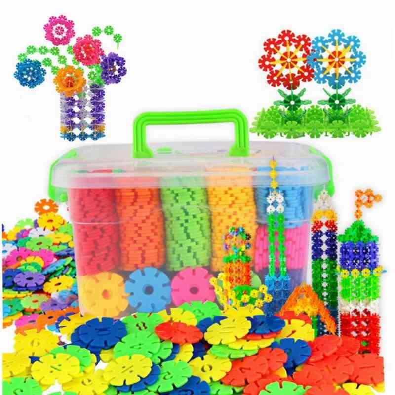 Building Blocks Snowflower Toy For