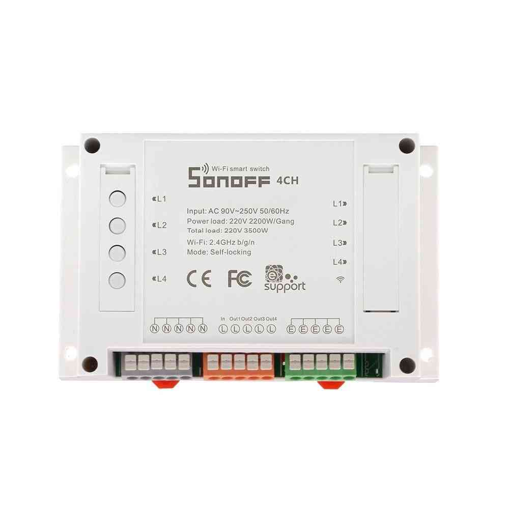 Itead 4ch/4ch R3 Wifi Smart Switch - 4 Gang Wifi Light