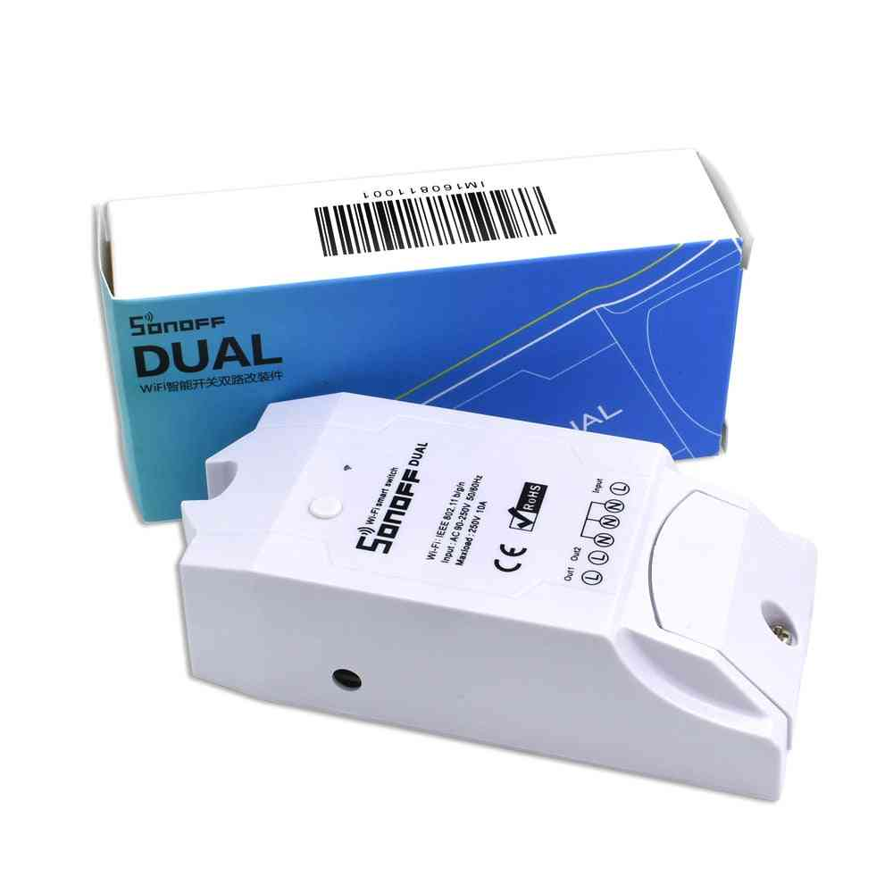 Dual Wireless Wifi Timing Smart Relay For Automation Remote Controller