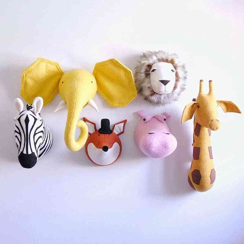 Wall Mount 3d Animal Head, Stuffed For Decoration And Photo Props