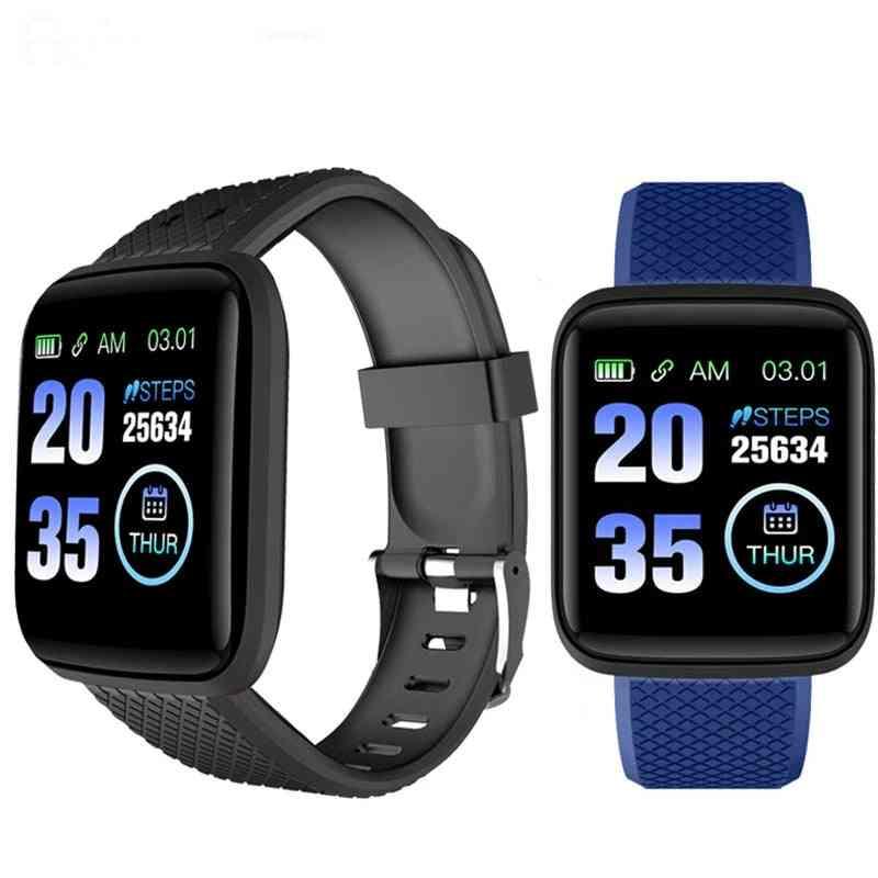 Waterproof 116 Plus Smart Watch, Blood Pressure, Fitness Tracker, Heart Rate Monitor, Pedometer Smartwatch Bracelet