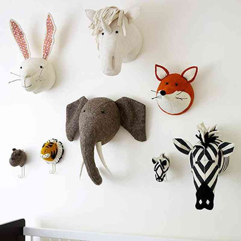3d Animal Heads - Wall Hanging Nursery For Room Decoration