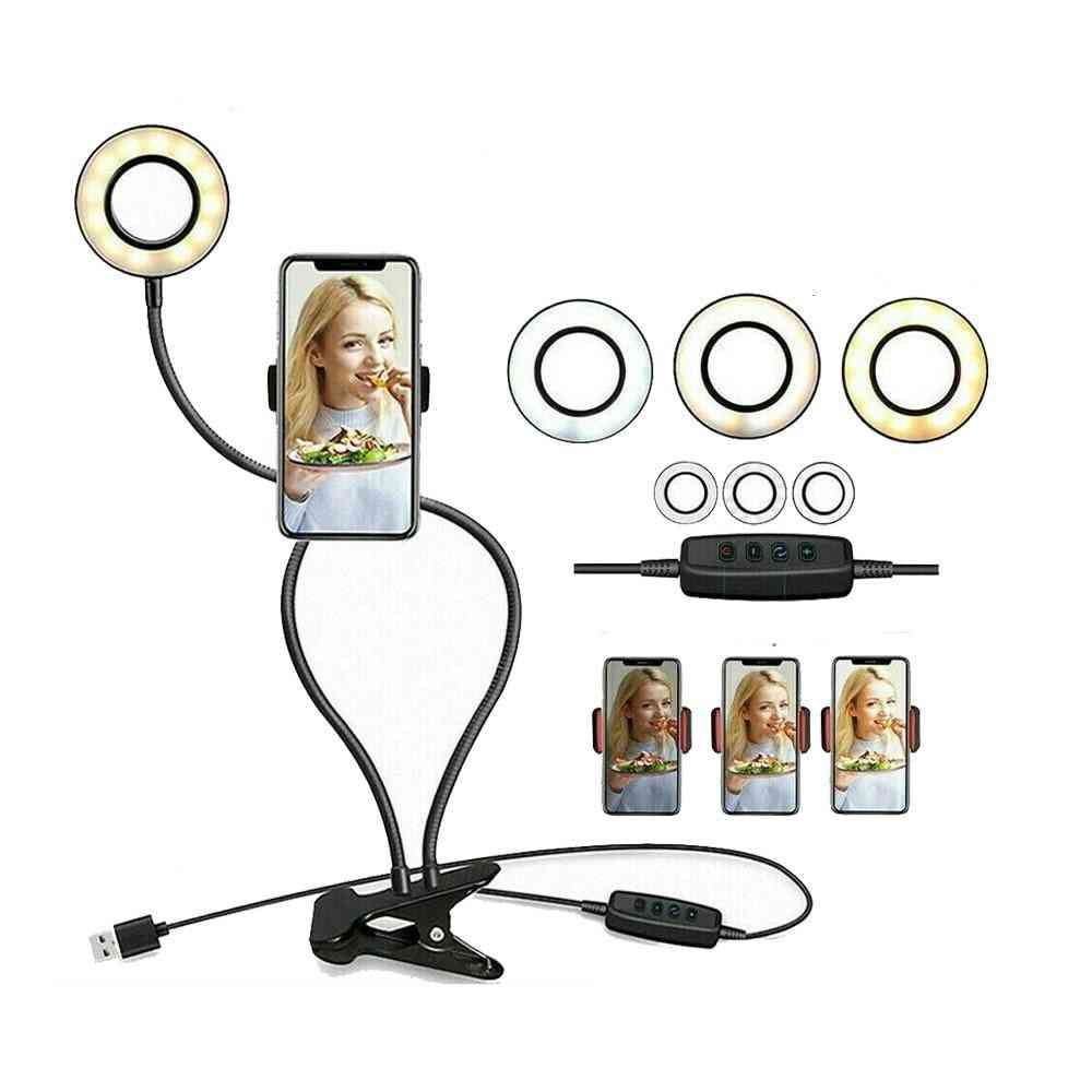 Photo Studio Selfie Led Ring Light With Cell Phone Holder