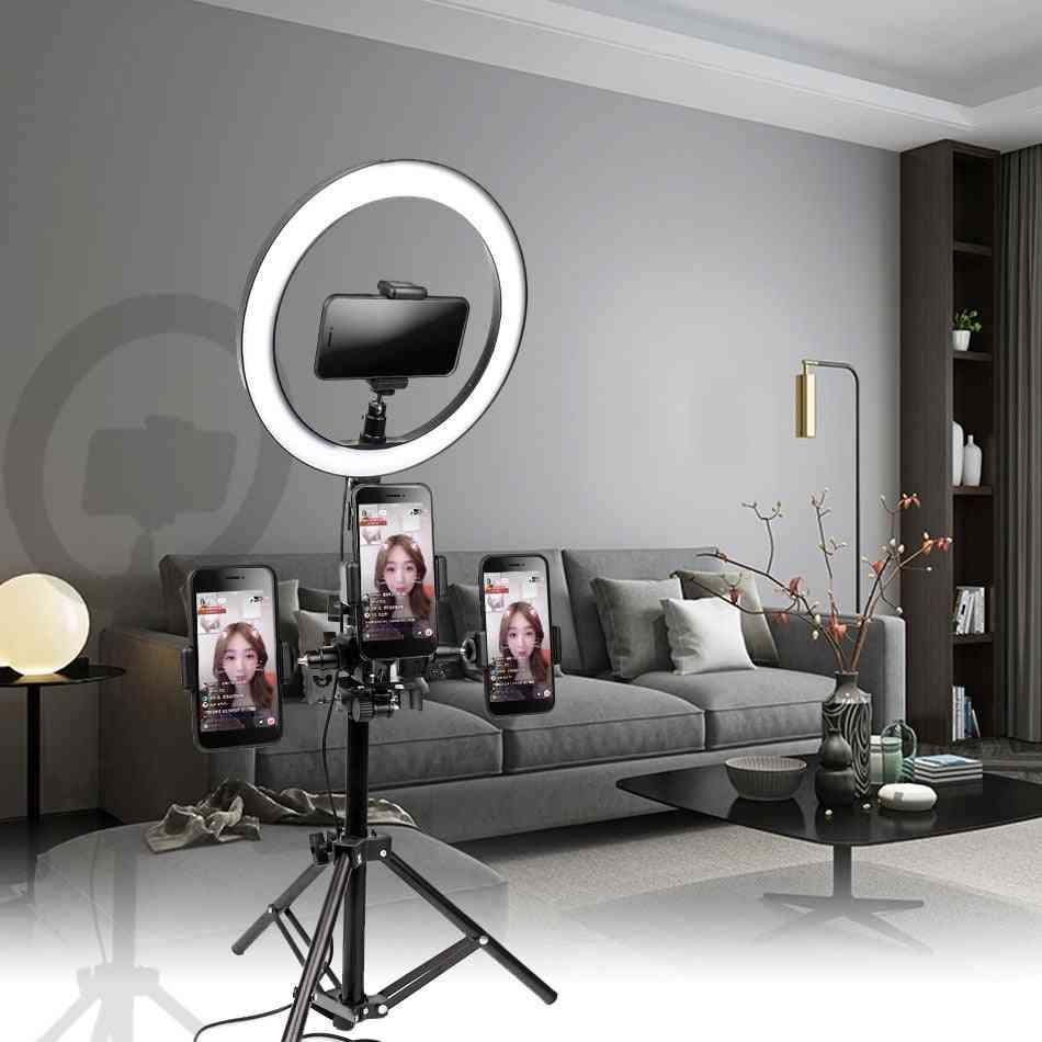 Usb Interface Dimmable Led Selfie Ring Light -with Tripod