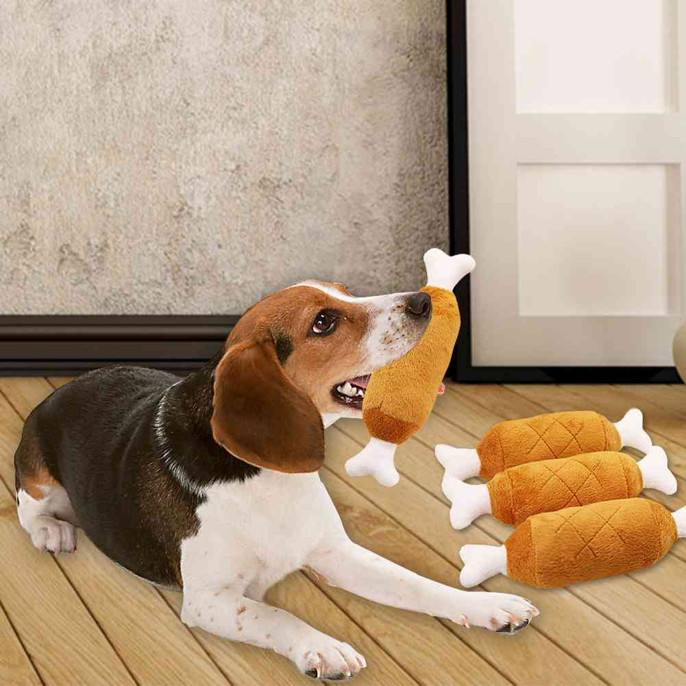 Pet Chew Molar- Interactive Simulation Of Chicken Drumstick With Double Bone Ends