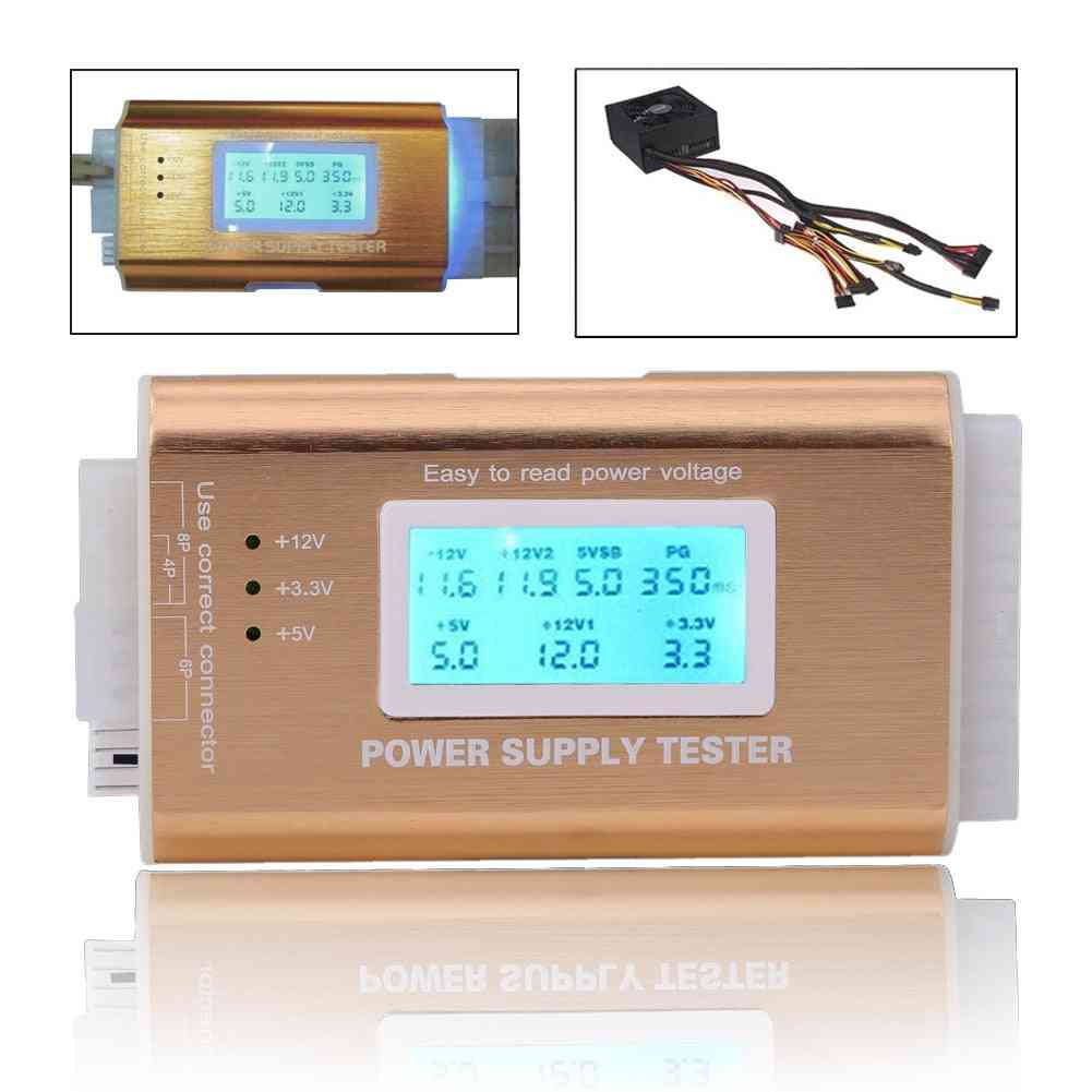 Digital Lcd Power Supply Tester - Support Hdd Interface