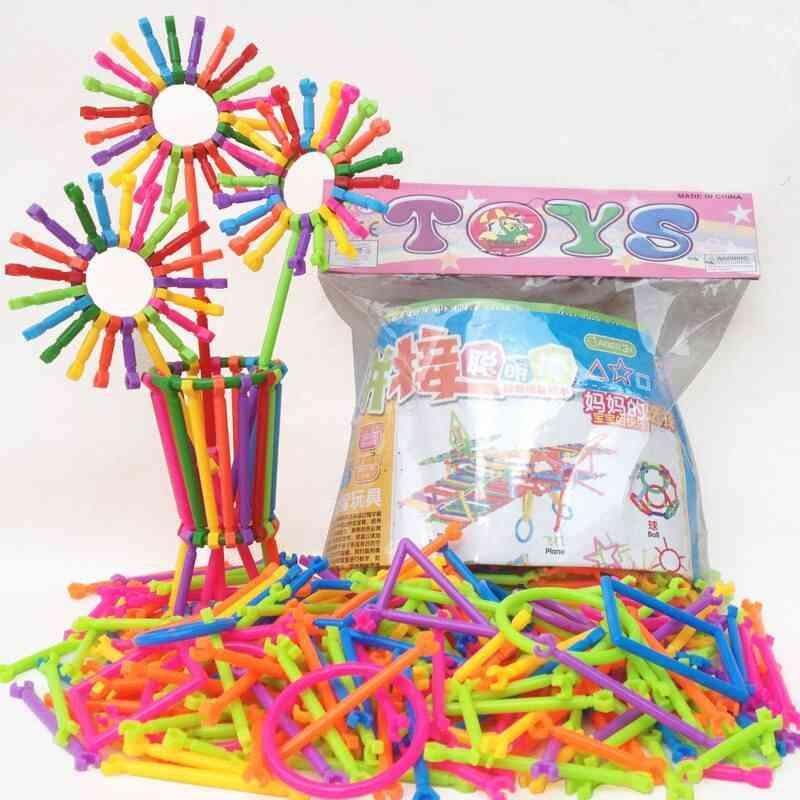 Assembled Building Puzzles- Smart Stick Plastic Creative Educational