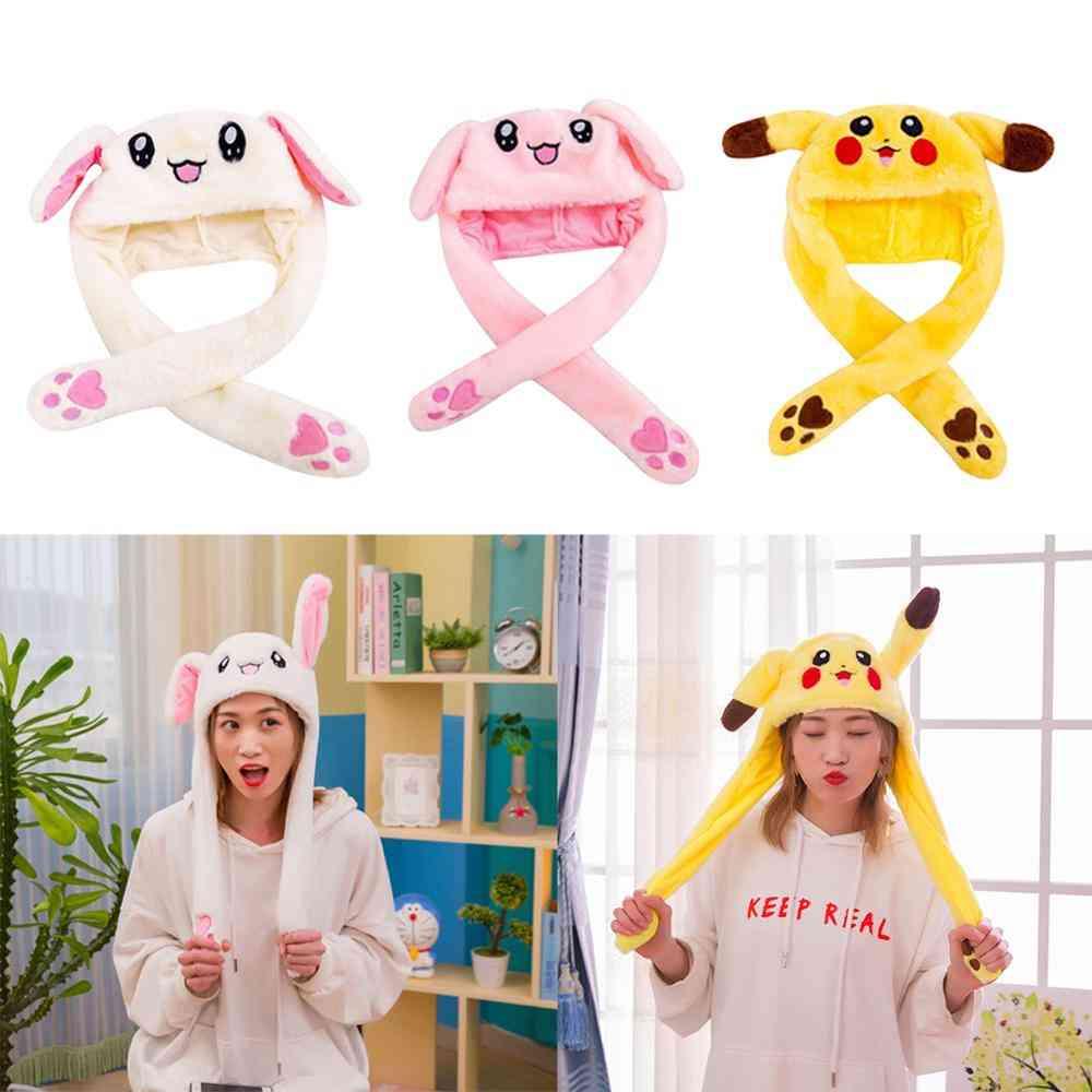 Lovely Luminous Plush Rabbit Hat Play
