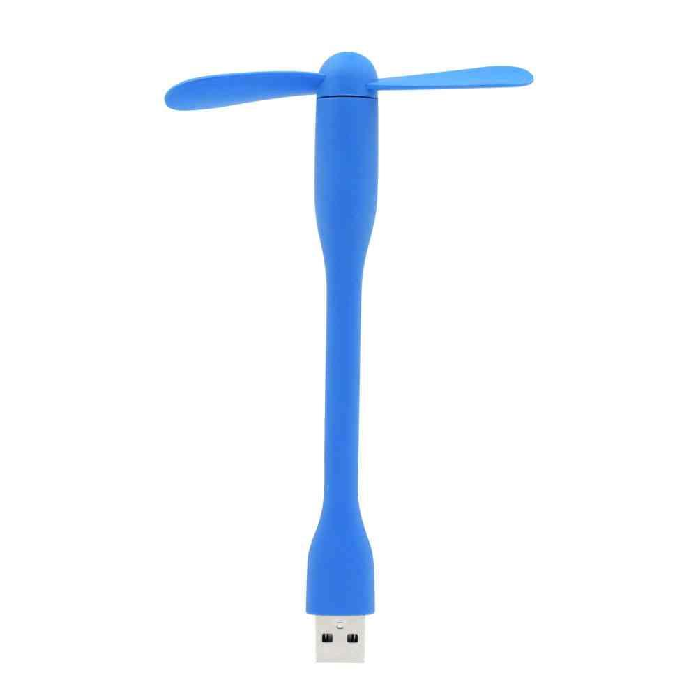 Cute Portable Flexible Mini Usb Fan - Bendable Removable Gadgets For Pc And Laptop