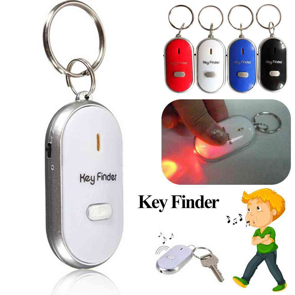 Key Finder, Anti-lost Smart Key With Led Torch - Whistle Key Finder Tracker